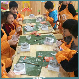 私立幼儿园陶艺课展示